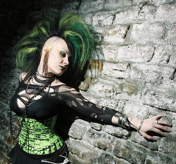 Gore Couture Grave Robber underbust corset in Lady Killer style